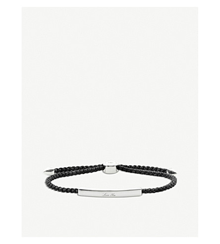 MONICA VINADER Linear sterling silver friendship bracelet