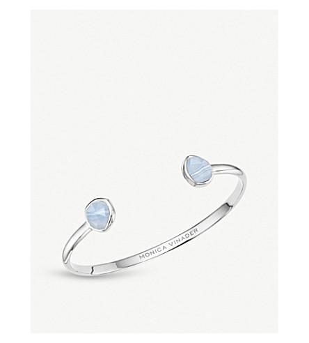 MONICA VINADER Siren agate-gemstone sterling silver cuff (Blue