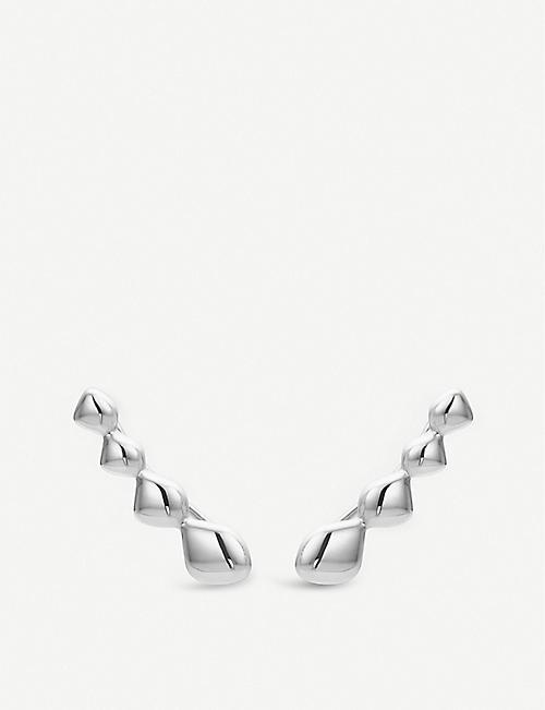 MONICA VINADER Nura Teardrop sterling silver climber earrings