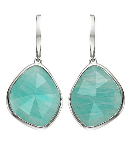 MONICA VINADER Siren sterling silver amazonite nugget earrings