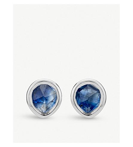 MONICA VINADER Siren mini sterling silver and kyanite stud earrings (Blue