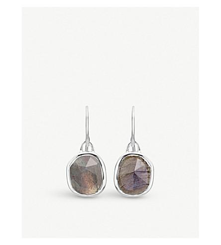 MONICA VINADER Siren sterling silver and labradorite wire earrings (Multi