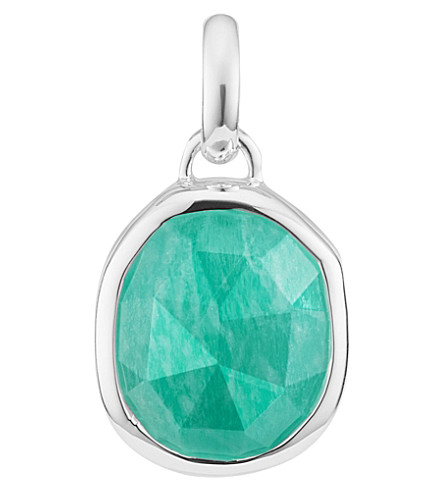 MONICA VINADER Siren medium sterling silver and amazonite pendant