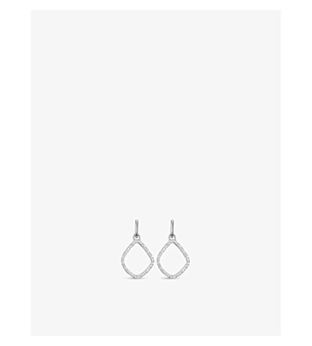 MONICA VINADER Riva kite chain 18ct rose-gold vermeil pavé diamond pendant