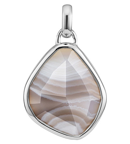 MONICA VINADER Siren Medium sterling silver and grey agate pendant