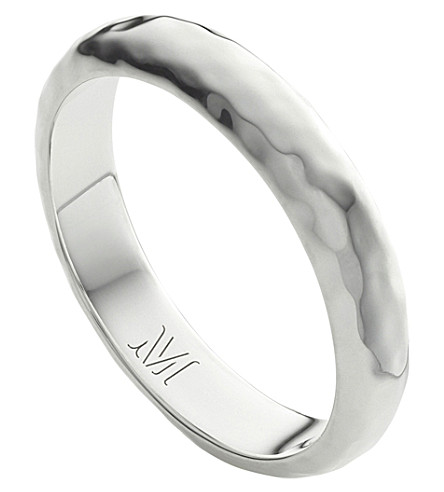 MONICA VINADER Alta hammered sterling silver thin ring