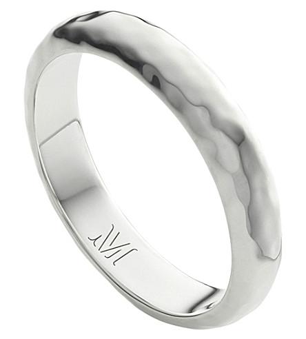 MONICA VINADER Alta hammered 纯银 thin ring