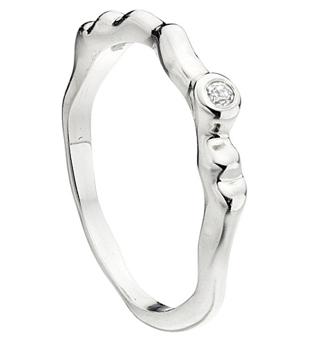 MONICA VINADER Siren waved sterling silver ring