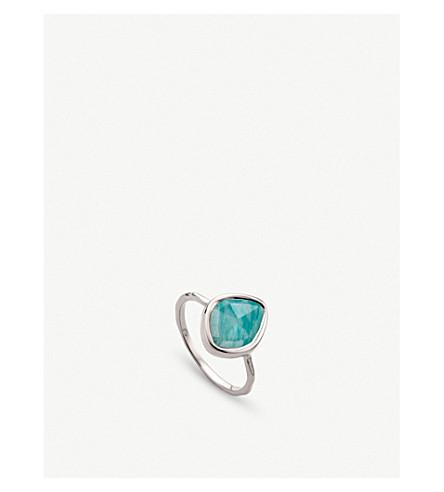 MONICA VINADER Siren amazonite-gemstone sterling silver ring (Green