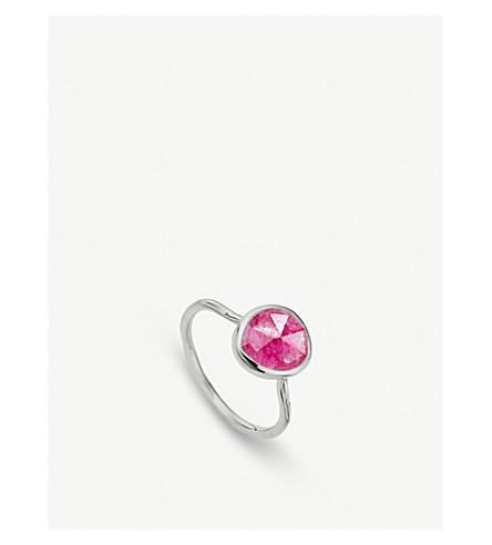 MONICA VINADER Siren quartz-gemstone silver ring (Pink