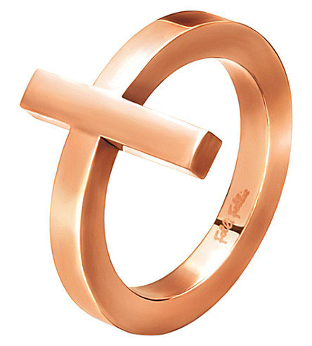 FOLLI FOLLIE Carma rose gold-plated ring (Rose+gold