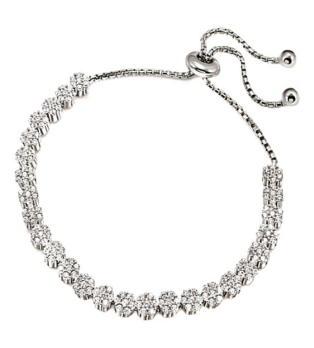 FOLLI FOLLIE Fashionably flower silver bracelet (Silver
