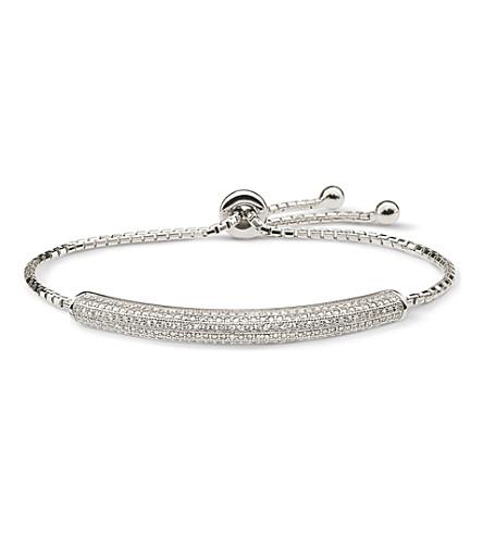 FOLLI FOLLIE Fashionably double sparkle silver bracelet (Silver