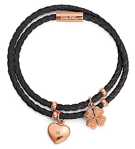 FOLLI FOLLIE Heart4Heart rose gold-plated bracelet (Rose+gold