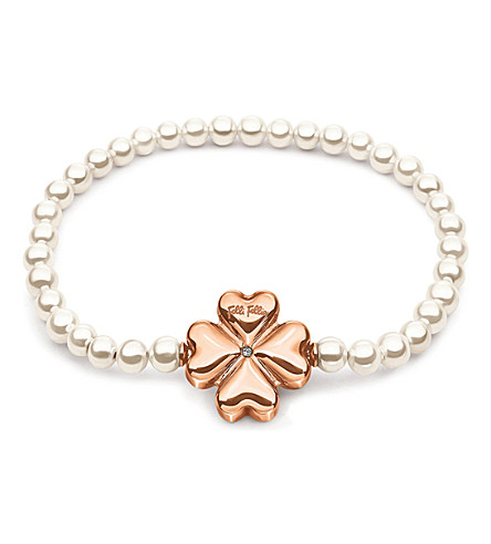 FOLLI FOLLIE Pearl Muse rose gold-plated bracelet (Rose+gold
