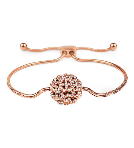 FOLLI FOLLIE Santorini Flower rose gold-plated bracelet (Rose+gold