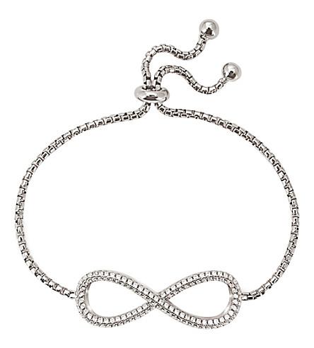 FOLLI FOLLIE Fashionably Infinity silver-plated bracelet (Silver