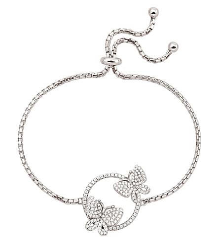 FOLLI FOLLIE Wonderfly rhodium-plated sterling silver adjustable bracelet (Silver