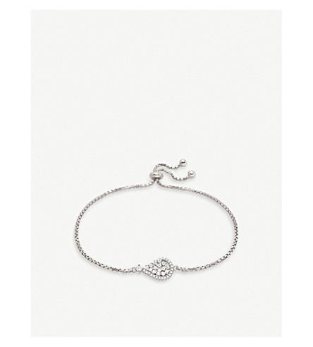 FOLLI FOLLIE Sparkle Chic sterling silver and zirconia bracelet