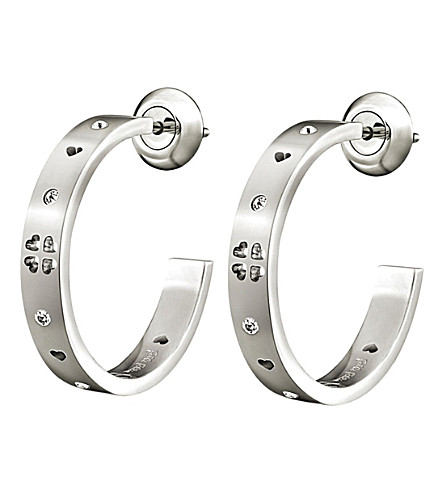 FOLLI FOLLIE Love&Fortune silver-plated hoop earrings (Silver