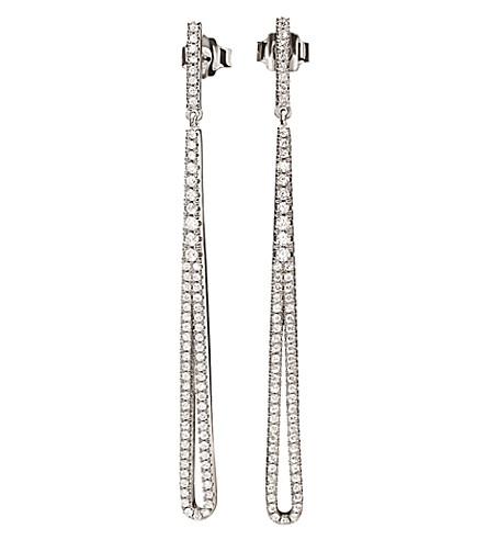 FOLLI FOLLIE Fashionably Long Sparkle silver earrings (Silver