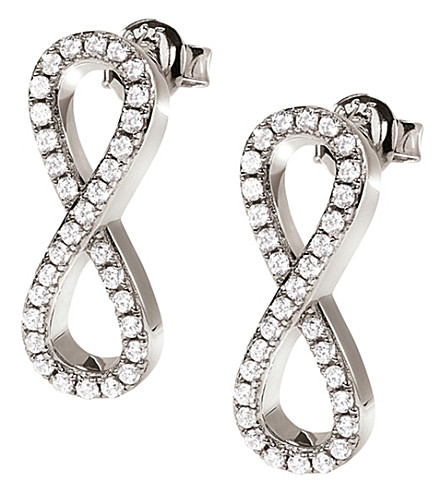 FOLLI FOLLIE Fashionably Infinity silver-plated earrings (Silver