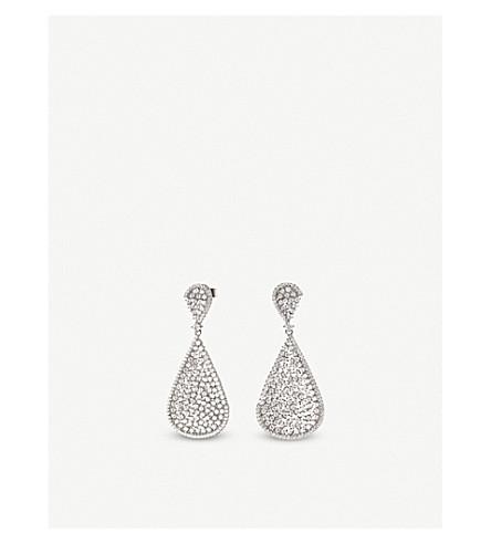 FOLLI FOLLIE Sparkle Chic sterling silver and zirconia teardrop earrings