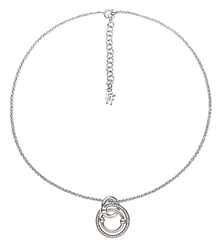 FOLLI FOLLIE Bonds silver-plated necklace (Silver