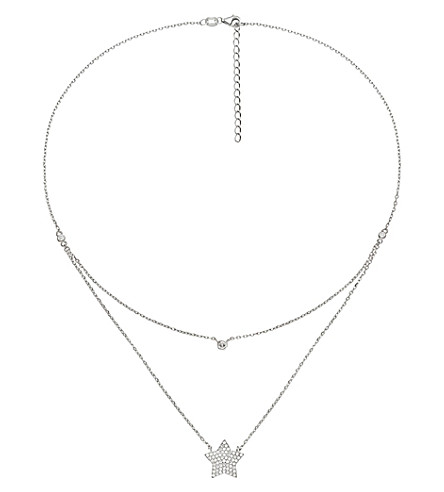 FOLLI FOLLIE Fashionably starry sky sterling silver necklace (Silver