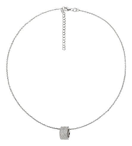 FOLLI FOLLIE Fashionably sparkle ball sterling silver necklace (Silver