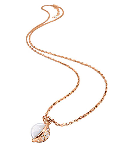 FOLLI FOLLIE Orbit orb rose gold-plated pendant necklace (Rose+gold
