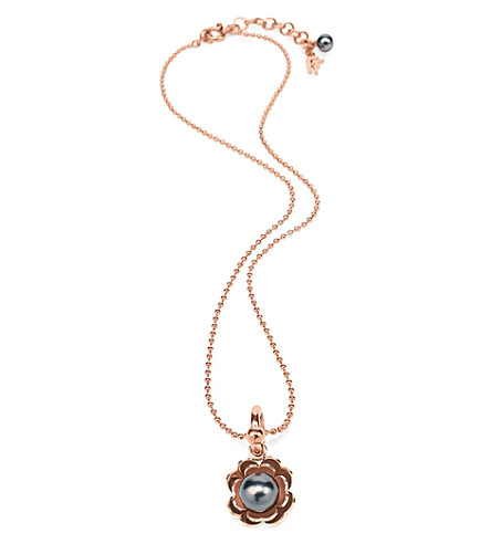 FOLLI FOLLIE Pearl Muse rose gold-plated necklace (Rose+gold