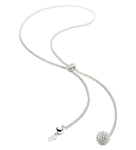 FOLLI FOLLIE Bling Chic Lariat sterling silver-plated necklace (Silver