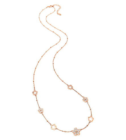 FOLLI FOLLIE Winter Wonders rose gold-plated necklace (Rose+gold