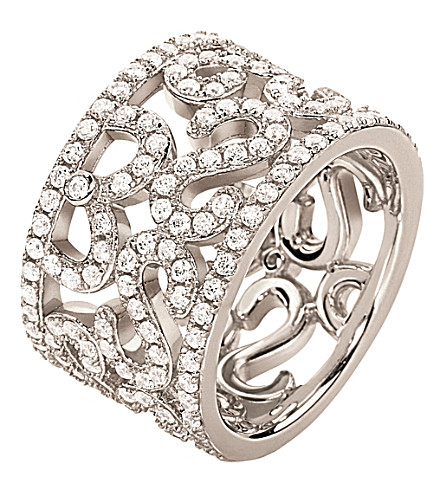 FOLLI FOLLIE Fashionably silver lace ring (Silver