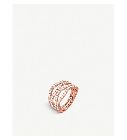 FOLLI FOLLIE Fashionably rose gold-plated band ring