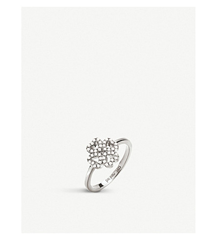 FOLLI FOLLIE Miss Heart4Heart sterling silver and cubic zirconia ring