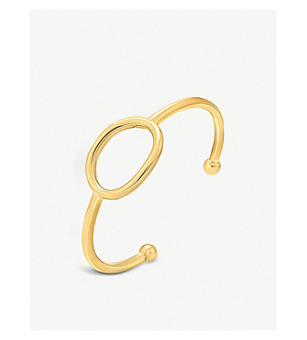 FOLLI FOLLIE Metal Chic small gold-plated bangle (Gold