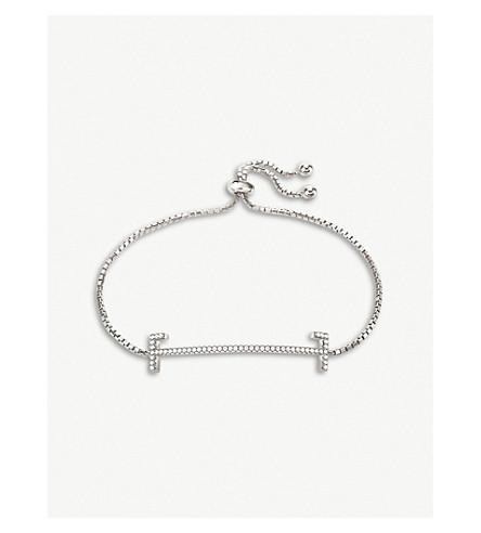 FOLLI FOLLIE My FF sterling silver and cubic zirconia bracelet