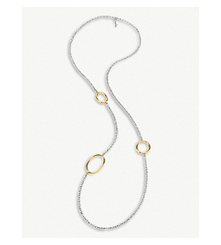 FOLLI FOLLIE Metal chic silver and gold-plated necklace (Silver/gold