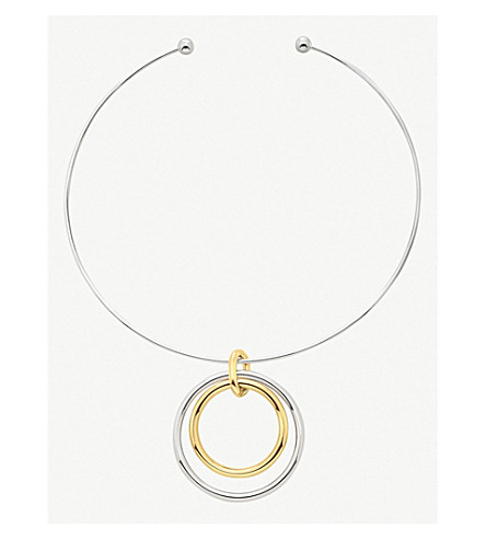 FOLLI FOLLIE Metal Chic yellow gold-plated and silver choker necklace (Silver/gold