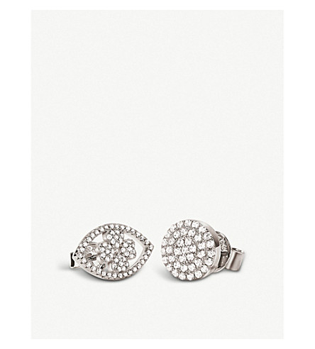 FOLLI FOLLIE H4H Mati mismatched silver earrings