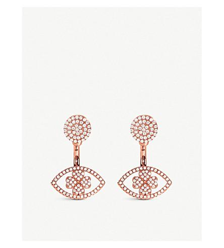 FOLLI FOLLIE HEART4HEART Mati rose gold plated earrings (Rose+gold