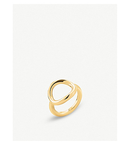 FOLLI FOLLIE Metal Chic gold-plated circle ring (Gold