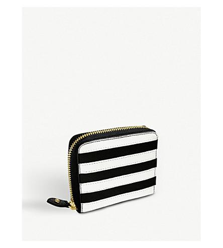 FOLLI FOLLIE Club Riviera striped leather zip-around purse