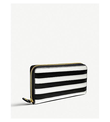 FOLLI FOLLIE Club Riviera striped leather purse