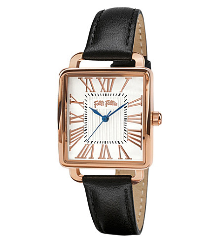 FOLLI FOLLIE Rose gold-plated square watch (Rose+gold