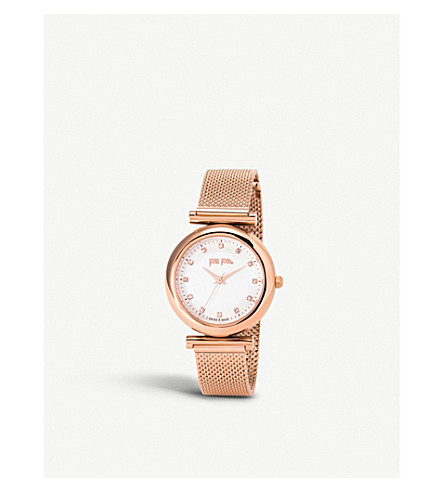FOLLI FOLLIE Sparkle Chic rose-gold plated watch