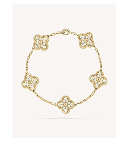 VAN CLEEF & ARPELS Vintage Alhambra gold and diamond bracelet (Yellow+gold