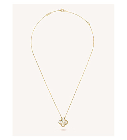 VAN CLEEF & ARPELS Vintage Alhambra gold and diamond pendant (Yellow+gold